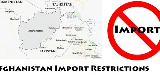 Afghanistan Import Regulations