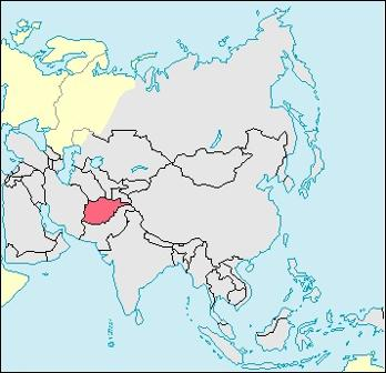 Afghanistan Location Map