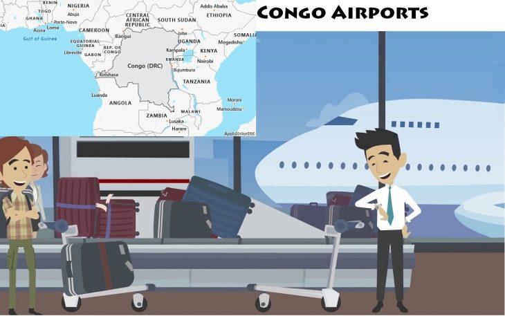 Airports in Congo