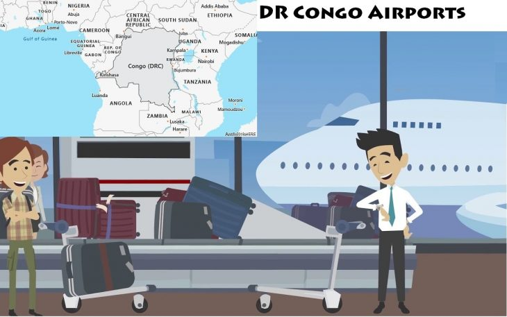 Airports in DR Congo