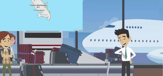 Airports in Martinique