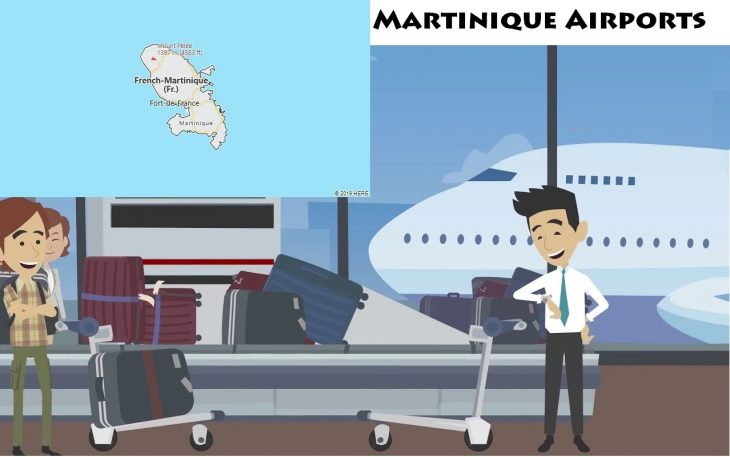 Airports in Martinique