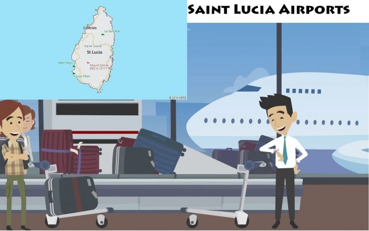 Airports in Saint Lucia
