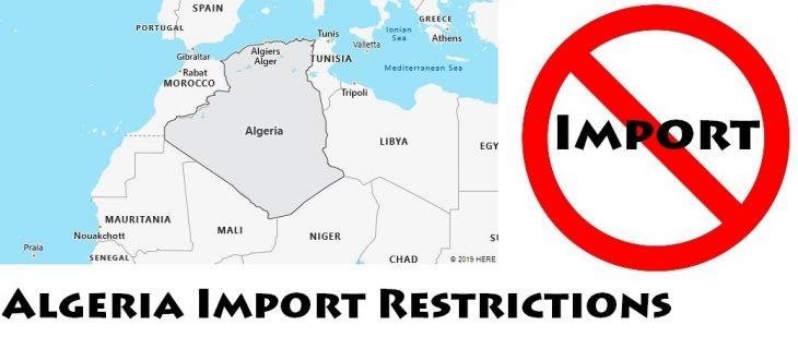 Algeria Import Regulations