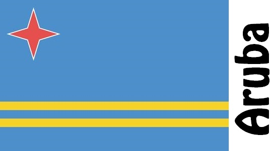 Aruba Country Flag