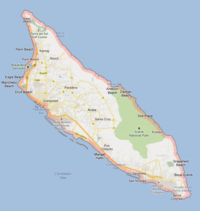 Aruba Map