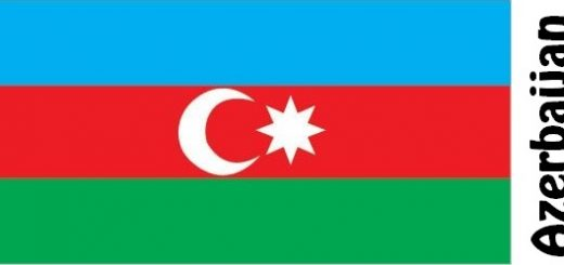 Azerbaijan Country Flag
