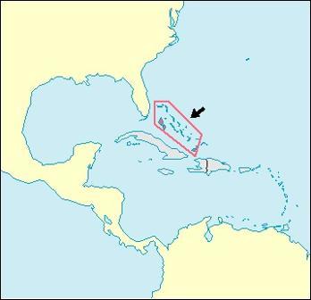Bahamas Location Map