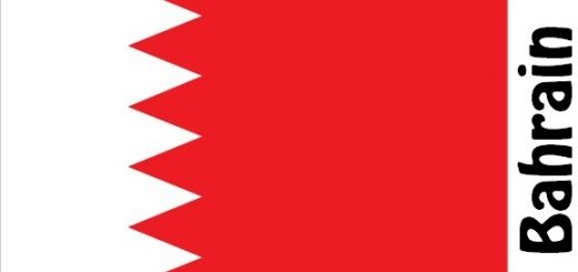 Bahrain Country Flag