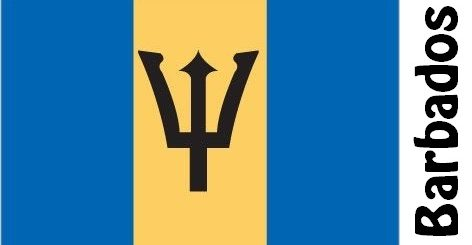 Barbados Country Flag