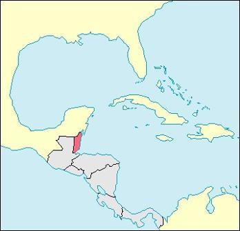 Belize Location Map