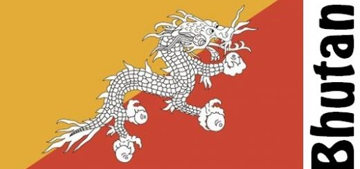 Bhutan Country Flag