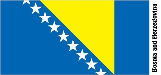Bosnia and Herzegovina Country Flag