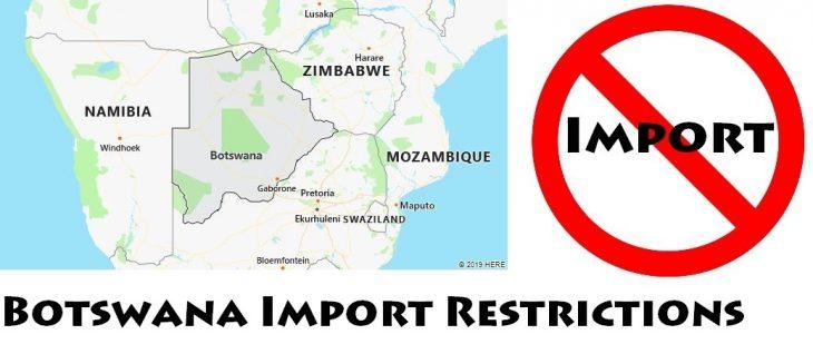 Botswana Import Regulations