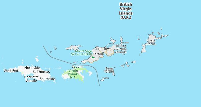 British Virgin Islands Map