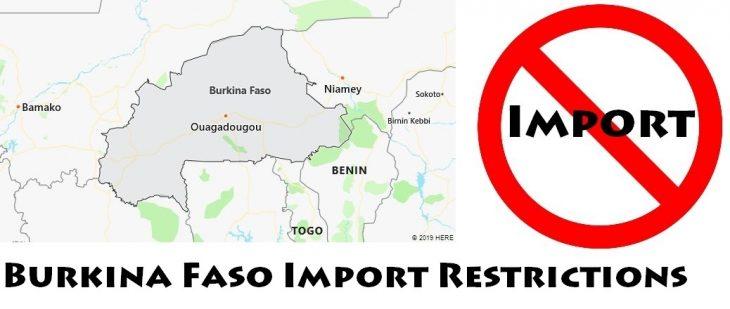 Burkina Faso Import Regulations