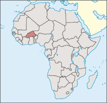 Burkina Faso Location Map