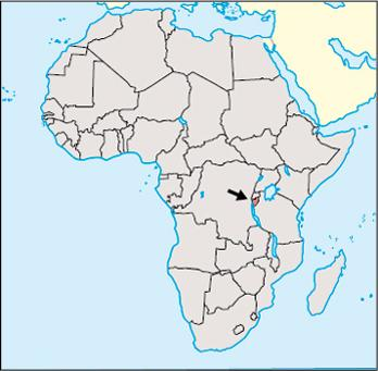 Burundi Location Map
