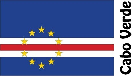 Cabo Verde Country Flag