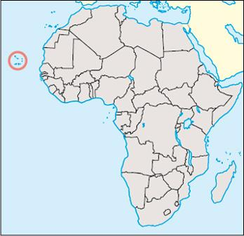 Cape Verde Location Map