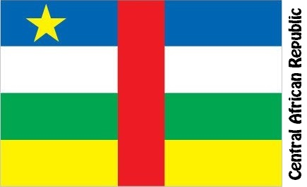Central African Republic Country Flag