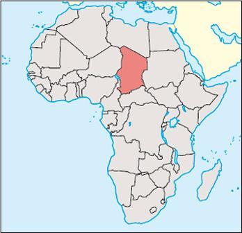 Chad Location Map
