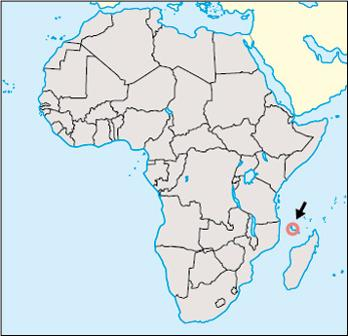 Comoros Location Map