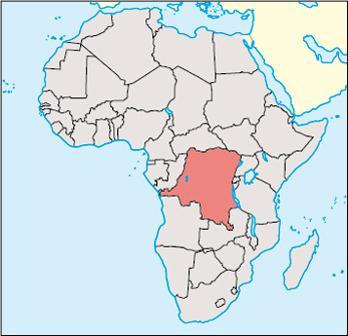 Congo Kinshasa Location Map