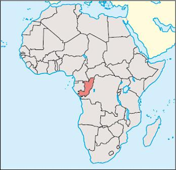 Congo Location Map