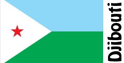 Djibouti Country Flag