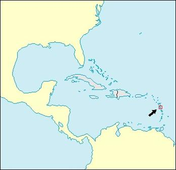 Dominica Location Map