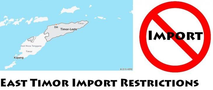 East Timor Import Regulations