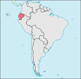 Ecuador Location Map
