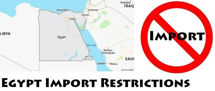 Egypt Import Regulations