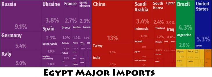 Egypt Major Imports