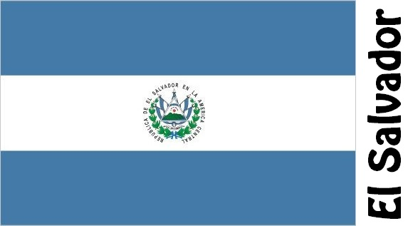 El Salvador Country Flag