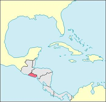 El Salvador Location Map