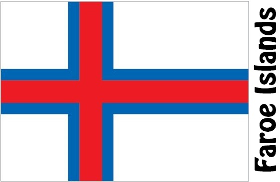 Faroe Islands Country Flag