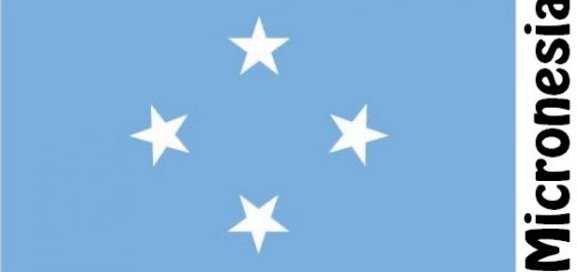 Federated States of Micronesia Country Flag