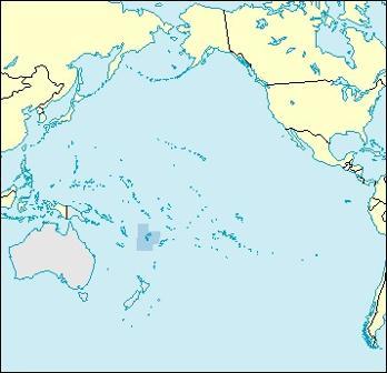 Fiji Location Map