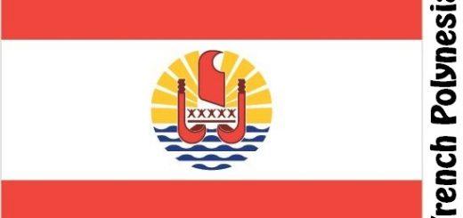 French Polynesia Country Flag