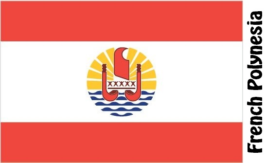 French Polynesia Country Flag