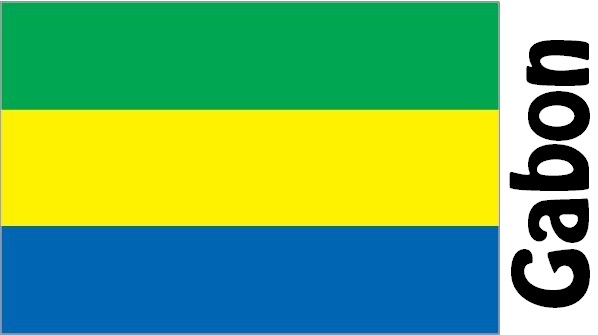 Gabon Country Flag