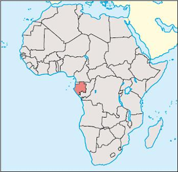 Gabon Location Map