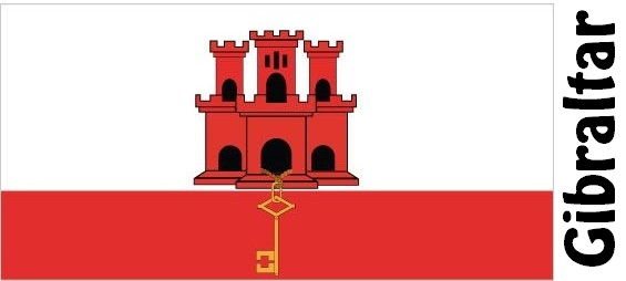 Gibraltar Country Flag