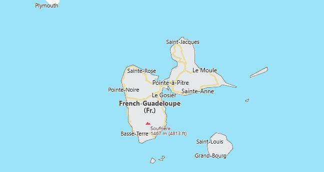Guadeloupe Map