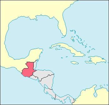 Guatemala Location Map