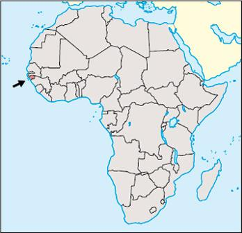 Guinea Bissau Location Map