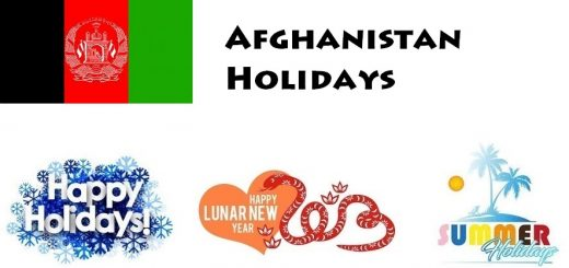 Holidays in Afghanistan