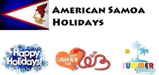 Holidays in American Samoa